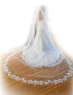 "165"" Long Lace Royal Cathedral Wedding Veil Elena Designs E1212"