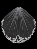 Regal Lace Fingertip  Length Wedding Veil enVogue V1898SF