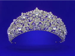 Gold or Silver Crystal and Rhinestone Wedding and Quinceanera Tiara
