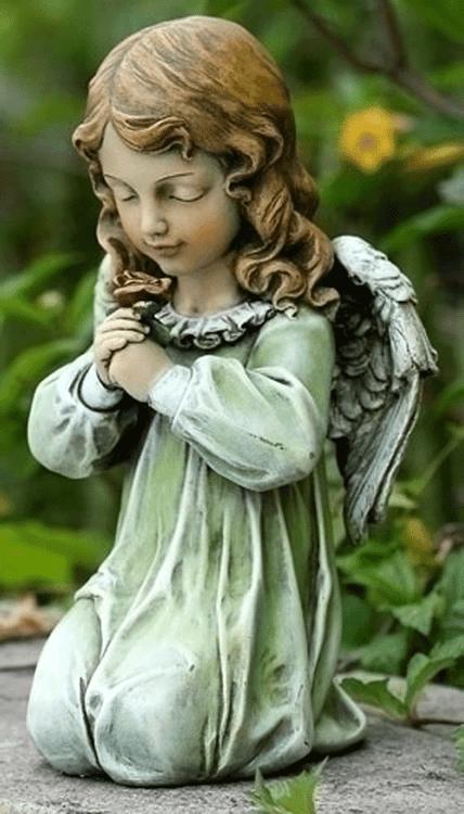 Josephu0027s Studio Angel Child Kneeling Holding Flower #60199