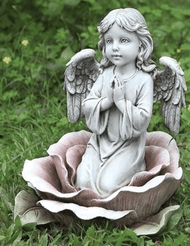 Joseph's studio Kneeling Angel Child in Pink Rose, #64555