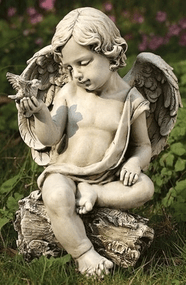 Joseph's Studio Cherub with Dove Garden Statue, #60423