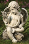 Joseph's Studio Cherub with Dove Garden Statue, #60423