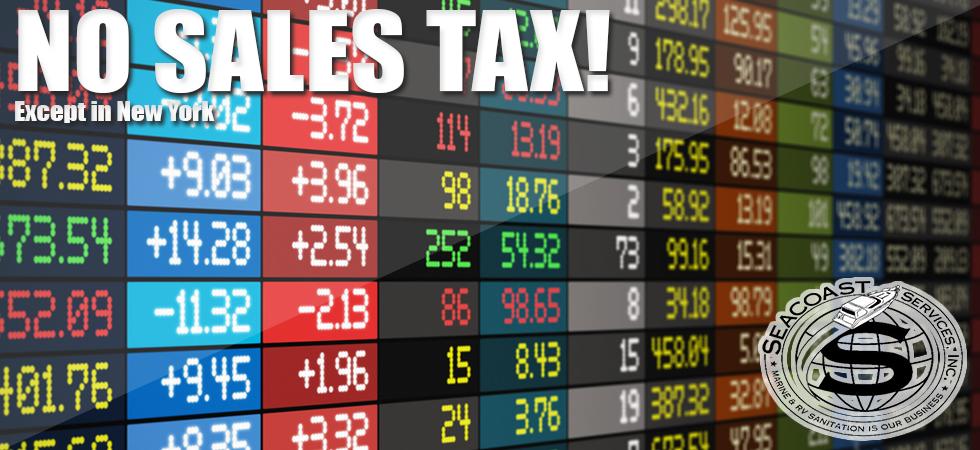 No sales tax Sealand Domestic Parts