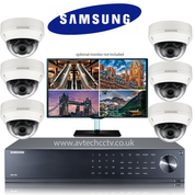 6 Samsung Anti-vandal Camera CCTV Wisenet HD Security Camera system
