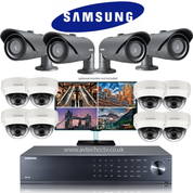 12 Samsung CCTV Wisenet HD Security Camera system with EXIR & IR