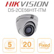 Hikvision 5MP Dome - 20 metres Nightvision DS-2CE56H1T-ITM