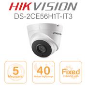 Hikvision 5MP Dome - 40 metre nightrange DS-2CE56H1T-IT3