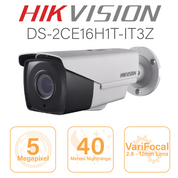 Hikvision 5MP Bullet - 2.8mm - 12mm motorised lens DS-2CE16H1T-IT3Z