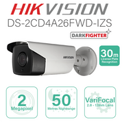 Hikvision IP ANPR Series Bullet 30m DS-2CD4A26FWD-IZS(2.8-12mm)
