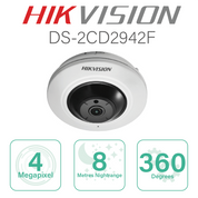 Hikvision Fisheye IP with 4 Megapixel Resolution DS-2CD2942F