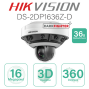 Hikvision Fisheye PanoVu+ IP - 36x Optical zoom DS-2DP1636Z-D