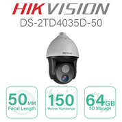 Hikvision Thermal PTZ with 50mm Focal DS-2TD4035D-50