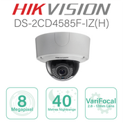 Hikvision 4K IP Dome with 2.8mm-12mm lens DS-2CD4585F-IZ