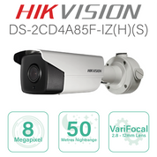 Hikvision 4K IP Bullet with 2.8mm-12mm lens DS-2CD4A85F-IZS