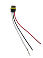 ECVRO3PGTL-BK, Sound Off Wire Harness with Connector (3 Wire)
