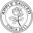 Apple Sauced Logo Sticker & Button included