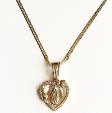 Virgencita Corazon Necklace (18K Gold Filled)