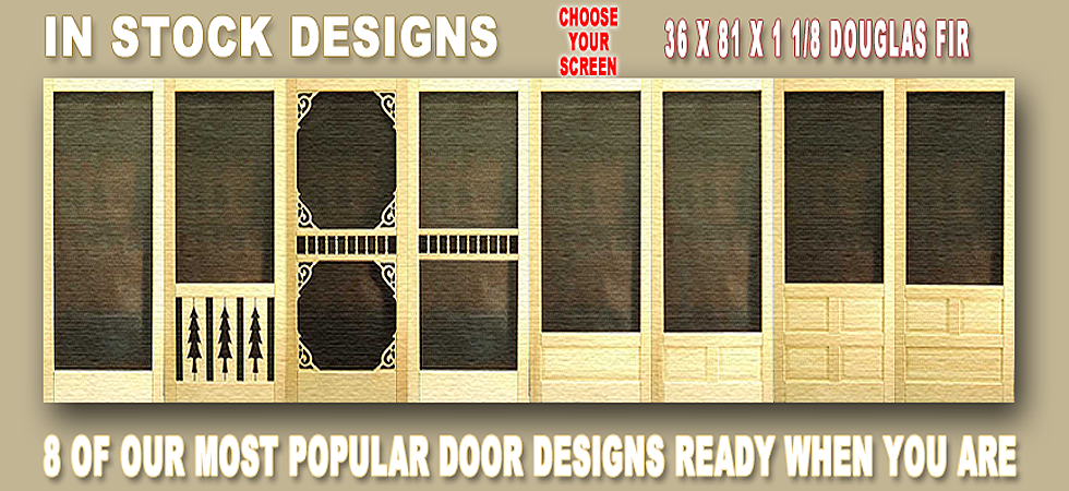 In Stock Solid Wood Screen Doors
