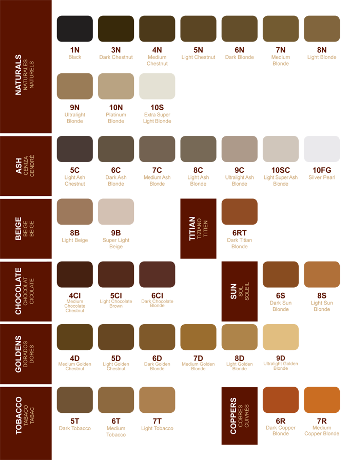 Chi Hair Color Chart Newhairstylesformen2014 Com