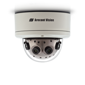 AV12186DN: Arecont Vision, 12 Megapixel WDR & Day/Night H.264/MJPEG 180û Camera, 8192 x 1536, 4 x 5.4mm MP Lens, Surface mount, Indoor/Outdoor, IP66, PoE Powered Fan