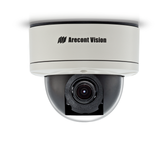 AV1255AM: Arecont Vision, 1.3 MP MegaDome¨2, 1280x1024, 42 fps, Day/Night, 3-9mm Remote Focus, Remote Zoom Auto Iris Lens, 12VDC/24VAC/PoE