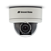 AV1255AMIR: Arecont Vision, 1.3 MP MegaDome¨2, 1280x1024, 42 fps, IR LED Array, Day/Night, 3-9mm Remote Focus, Remote Zoom Auto Iris Lens, 12VDC/24VAC/PoE