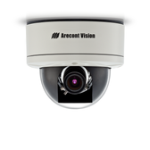 AV2256DN: Arecont Vision, 1080p MegaDome¨2, 1920x1080, 30 fps, WDR, Day/Night, 3.4-10.5mm Varifocal Manual Iris Lens, 12VDC/24VAC/PoE, PoE Powered Fan
