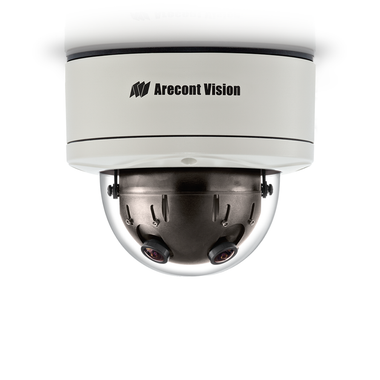 AV12366DN: Arecont Vision, 12 Megapixel WDR & Day/Night H.264/MJPEG 360û Camera, 8192 x 1536, 4 x 2.6mm MP Lens, Surface mount, Indoor/Outdoor, IP66, PoE Powered Fan
