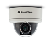 AV5255PMTIR-H: Arecont Vision, 5 MP MegaDome¨2, 2592X1944, 14 fps, IR LED Array, Day/Night, 9-22mm Remote Focus, Remote Zoom  P-Iris Lens, 12VDC/24VAC/PoE, PoE Heater