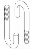 "CHATSWORTH PRODUCTS INC (CPI) 11431-701 | J-Bolt, 2-1/4"", 5/16-18"