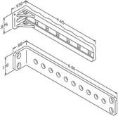 CHATSWORTH STAND-OFF TIE BRACKET   10001-001   NYLON WHITE