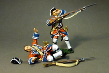 Two British Line Infantry Casualties, 4th Regiment of Foot (Barrell's)