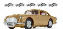 Aston Martin DB5 James Bond Thunderball Assortment (5 Silver & 1 Gold)