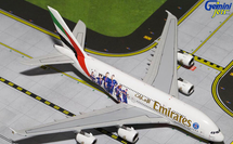 """Emirates Airlines A380-800, A6-EOT """"PSG France"""" Gemini Diecast Display Model"""