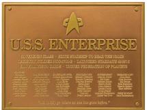 U.S.S. Enterprise NCC-1701-E Dedication Plaque