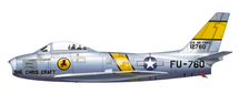 "F-86E Sabre #51-2760 ""The Chris Craft"", Charles Cleveland Signature Series"