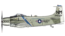 A-1H Skyraider USN VA-52 Knight Riders, NM300