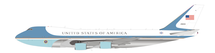 Air Force One USAF B747-200 CA-25A  29000 Polished w/ black Stand