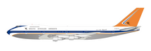 South African Airways Boeing 747-200 ZS-SAO Polished With Stand
