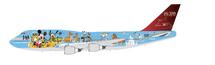 JAL B747-400D NO.3 Disney Reg# JA8083 w/ Stand