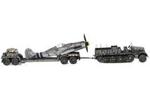 Sd.Kfz.9 Half-Track German Army, w/Fw 190 Fuselage on Trailer