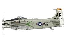 A-1H Skyraider USN VA-165 Boomers, AK204
