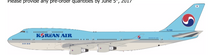 Korean Air Boeing 747-400 HL7488 With Stand - Limited 72 Models