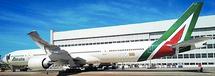 Alitalia B777-300ER (New Livery) EI-WLA w/Stand