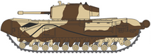 "Churchill Mk.III Tank  Maj. King, ""Kingforce,"" British Army, El Alamein, 1942"