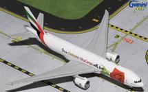 Emirates Sky Cargo B777F With Love A6-EFL Gemini Diecast Display Model