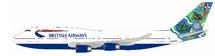 British Airways Boeing 747-400 G-BNLN Nalanji Dreaming w/ Stand