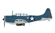 SBD-2 Dauntless USMC VMSB-241, White 6, USS Lexington, Battle of Midway, June 4th 1942