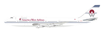 America West Airlines Boeing 747-200 N533AW With Stand - Limited to 100 Models